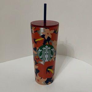 Starbucks Red Hibiscus Stainless Steel Tumbler
